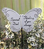 Memorial Butterfly Special Dad on Stick , Put By Grave Side
