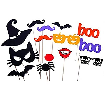 14 Pcs DIY Colorful Photo Booth Props On A Stick Mustache Bearded Lips Hat Masks For Fun Wedding Favor Halloween Birthday Party Favor