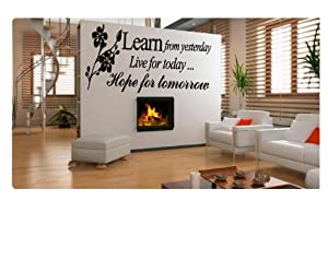 Learn From Yesterday Family Love Art Wall Quotes / Wall Stickers/ Wall Decals by Other