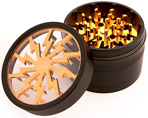 Read About Chromium Crusher 2.5 Inch 4 Piece Tobacco Spice Herb Grinder -Gold