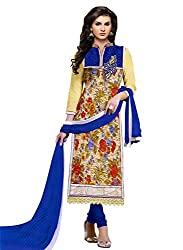 kesar fashion women semi stitched embroidery dress material(KR_sultan_blue)