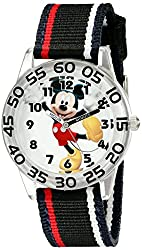 Disney Kids W001944 Mickey Mouse Analog Watch with Black Band