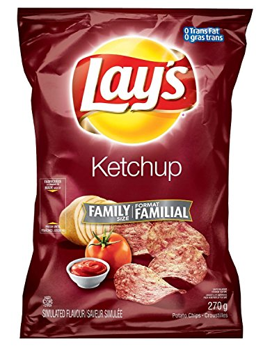 Canadian Lays Ketchup Flavour Chips [5 Large Bags] (Lays Canada compare prices)