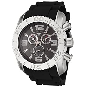 Mens 20067-012B Commander Collection Chronograph Grey Dial Black Rubber Watch