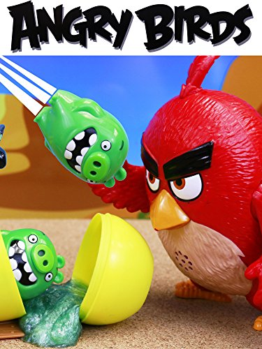 Angry Birds Surprise Egg Slime with Multiplying Bad Piggies and Giant Red Bird with Chuck and Bomb