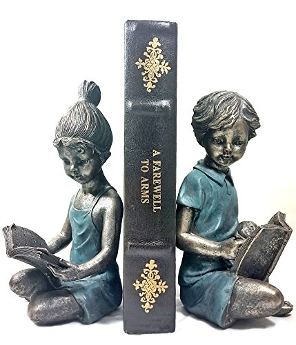 Boy & Girl Bookends Pair