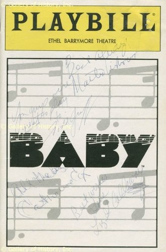 Baby Play Cast - Show Bill Signed Co-Signed By: Todd Graff, Catherine Cox, Liz Callaway, Martin Vidnovic