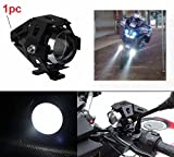 PR U5 Cree Led Auxiliary Lamp Fog Light Lamp Projector Lens With Low Beam High Beam & Strobe Function For Motorcycle Bike Scooter Led Super Power Spot Beam Light with Angle eye For Honda Dream Yuga Self Drum Alloy 1 Pcs