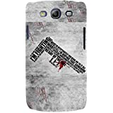 For Samsung Galaxy S3 I9300 :: Samsung I9305 Galaxy S III :: Samsung Galaxy S III LTE Pattern Gun ( Pattern Gun, I M Fighting, Good Quotes, Grey Background ) Printed Designer Back Case Cover By FashionCops