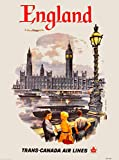London by Clipper England Great Britain Vintage Travel Advertisement Poster 3