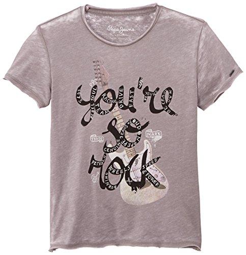 Pepe Jeans Jungen T-Shirt, PAUL, GR. 176 (Herstellergröße: 16 ans), Grau (Grey)