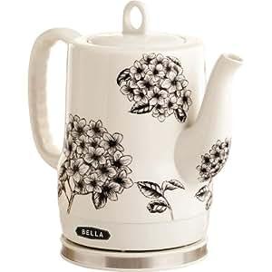 BELLA 13622 Electric Ceramic Kettle, Flower Pattern