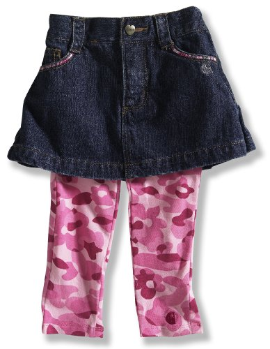 Carhartt Girls Washed Denim Skirt With Leggings front-867588