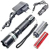 SJ CREE Rechargeable 3 Mode LED Waterproof Flashlight Flash Light Torch - 61