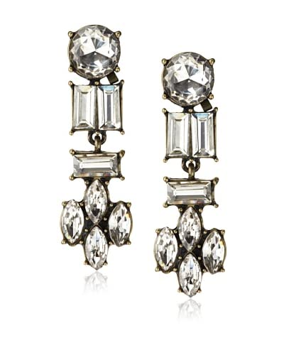 Leslie Danzis Estate Antiqued Crystal Earrings