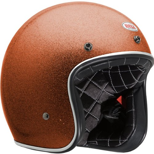 Bell Custom Orange Flake Open Face Helmet – Size : Medium 500