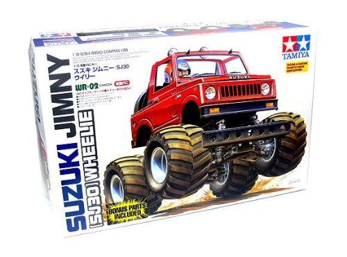 Rcecho® Tamiya Ep Rc Car 1/10 Suzuki Jimny Sj30 Wr02 Chassis Wheelie With Esc 58531 With Rcecho® Full Version Apps Edition