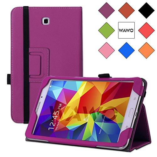 Wawo Samsung Galaxy Tab 4 8.0 Inch Tablet Smart Cover Creative Folio Case - Purple