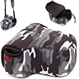 O.N.E. Neoprene Small (D)SLR Camera Case (Gray/Black) for Nikon D40, D40x, D50, D60, D70, D70s, D80, D90, D3000, D3100, D3200, D5000, D5100 (Body or depending on model body & lens)