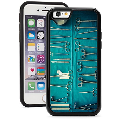 Apple-iPhone-6-6s-Shockproof-Impact-Hard-Soft-Case-Cover-Surgery-Surgical-Instruments-Doctor-NurseBlack