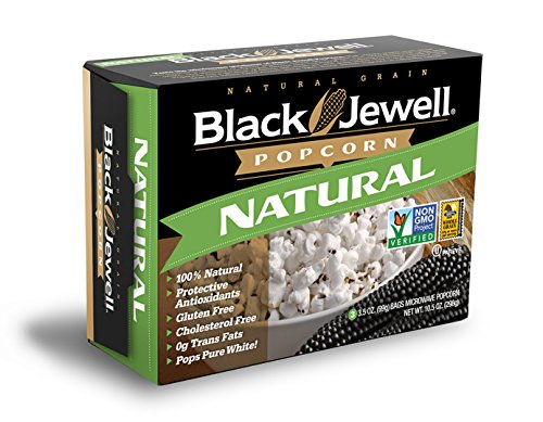 Black Jewell Premium Microwave Popcorn, Natural, 3-Count, 10.5-Ounce Boxes (Pack of 6) (Black Jewell Microwave Popcorn compare prices)