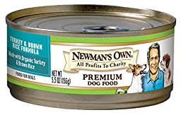 Newman\'s Own Turkey & Brown Rice Formula for Dogs, 5.5-Ounce Cans (Pack of 24)