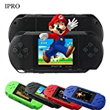 16 Bit 150+ Games Handheld Game Console 2.8 Inch Portable Video Game Retro Megadrive PXP(black)