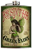 Green Fairy Absinthe flask - 8oz Stainless Steel by Trixie & Milo