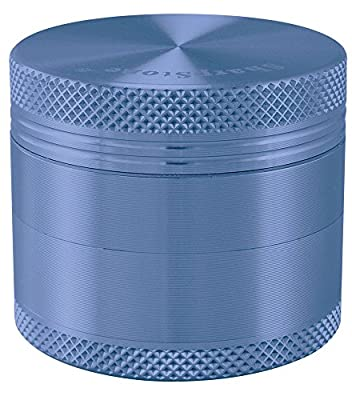 "2.2"" - Blue 4 Piece SharpStone® Aluminum Herb Grinder from Zico"