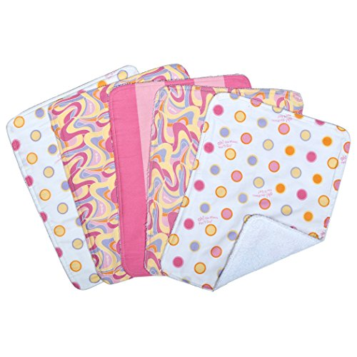 Trend Lab Dr. Seuss 5 Piece Burp Cloth Set, Oh The Places You'll Go, Pink