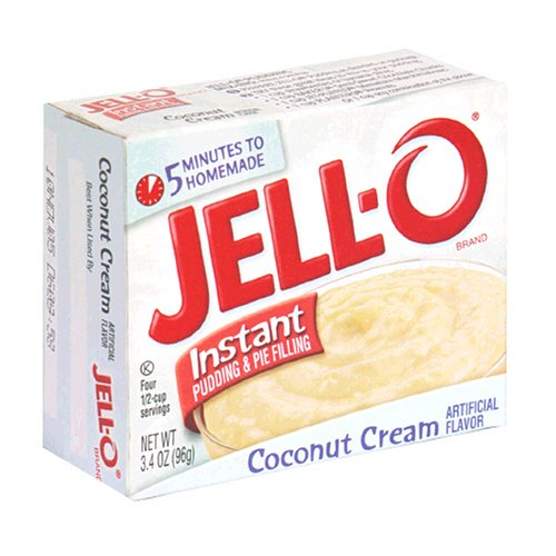 Buy Jell-O Instant Pudding & Pie Filling, Coconut, 3.4-Ounce Boxes (Pack of 24) (JELL-O, Health & Personal Care, Products, Food & Snacks, Baking Supplies, Pie & Cobbler Fillings)