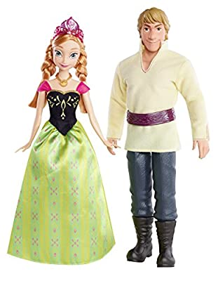 Disney Frozen Anna and Kristoff Doll, 2-Pack by Mattel