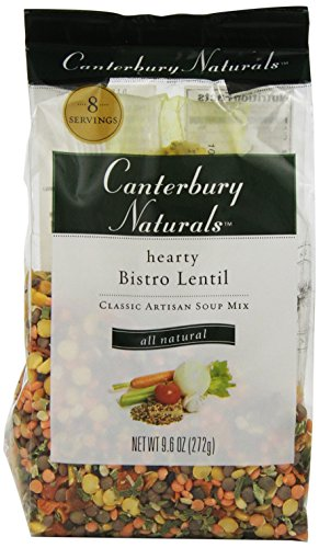 Canterbury Naturals Hearty Bistro Lentil Classic Artisan Soup Mix, Organic, 9.6-Ounce Bags (Pack of 6)