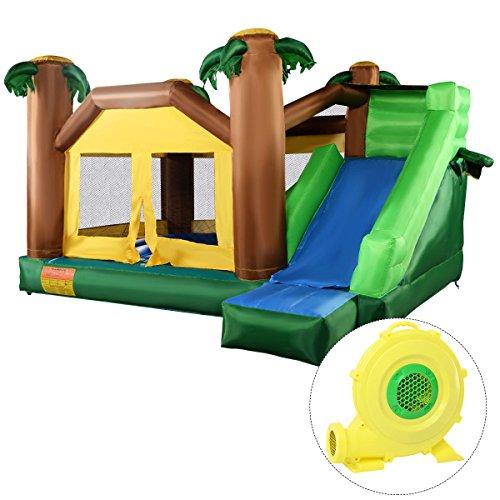 Giantex Inflatable Jungle Bounce House Jumper Bouncy Jump Castle w/ 680W Blower