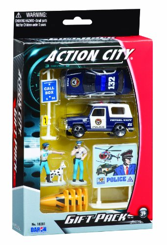 Daron Police Department Gift Set, 10-Piece