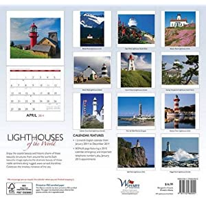 Lighthouses of the World 2014 Calendar