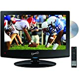 Supersonic SC-1512 15.6-Inch Class LED HDTV with Built-in DVD Player