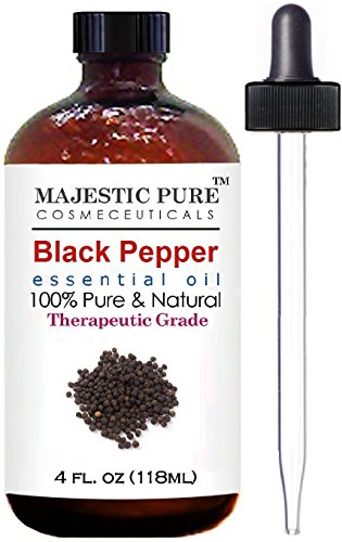 Black Pepper Essential Oil From Majestic Pure, Therapeutic Grade, Pure and Natural, 4 fl. oz.