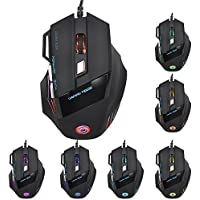 UnicornZ TM LED Gaming Mouse Professional 5500DPI Optical USB Wired Gaming Mouse Mice For PC Pro Gamer With 7...