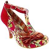 Womens Irregular Choice Bloxy High Heels Floral Bow Vintage Court Shoe