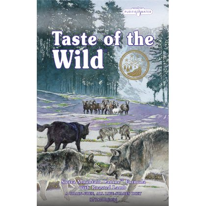 Taste of the Wild Dry Dog Food, Sierra Mountain Canine Formula with Roasted Lamb, 30-Pound Bag