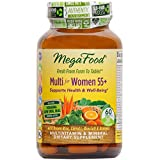 MegaFood - Multi for Women 55+, A Balanced Whole Food Multivitamin, 60 Tablets (FFP)