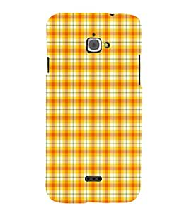 EPICCASE yellow checks Mobile Back Case Cover For InFocus M350 (Designer Case)