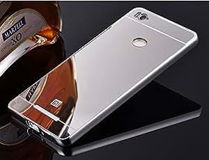 AMOL BAZAR Gold Luxury Metal Bumper + Mirror Back Cover Case For XIAOMI REDMII 3S SILVER