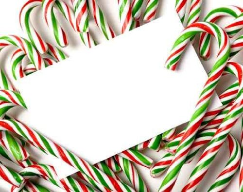 Chrismas Candy Cane Notecard or Invitation - 60
