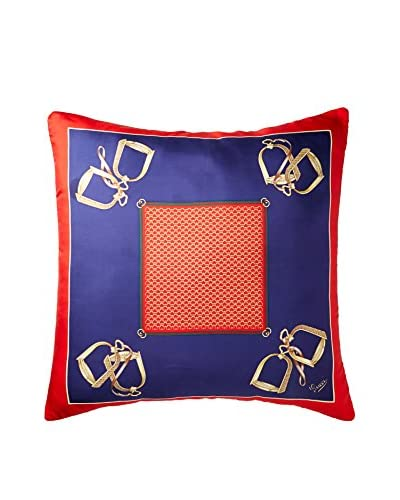 Gucci Classic Scarf Pillow, Navy/Red