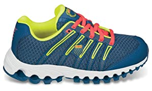 K-Swiss Boys' Tubes™ Run 100 Mesh Youth Running 12.5 M US Little Kid Blue-Citron