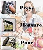Galleany Glass Bottle Olive Oil Dispenser & Vinegar Dispenser with Press and Measure 500 ml (Grey)