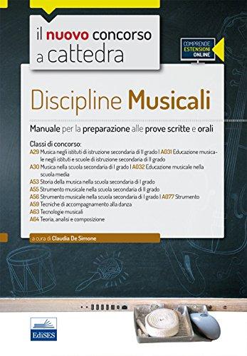 CC452 Discipline musicali nella scuola secondaria Per le classi A29 A30 A53 A55 A56 A59 A63 A64 Con espansione PDF