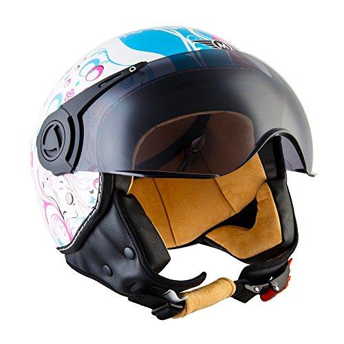 moto-h44-flower-casque-jet-chopper-mofa-helmet-pilot-bobber-scooter-biker-retro-cruiser-vespa-demi-j